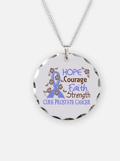 Hope Courage Faith Prostate Cancer Shirts Necklace