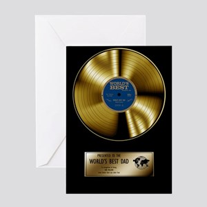 Dad Gold Disc Greeting Card