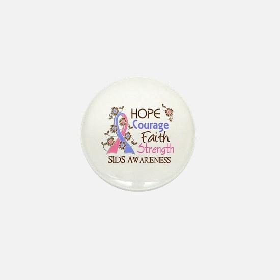 Hope Courage Faith SIDS Shirts Mini Button