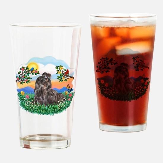 BrightLife-Blk Shih Tzu Drinking Glass