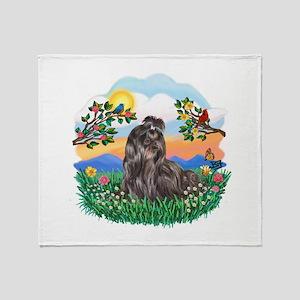BrightLife-Blk Shih Tzu Throw Blanket