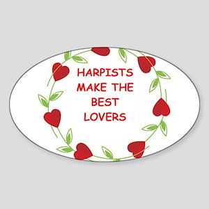 harpists Sticker (Oval)
