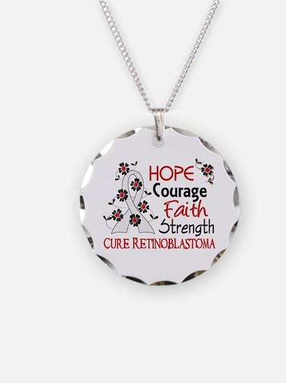 Hope Courage Faith Retinoblastoma Shirts Necklace