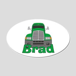 Trucker Brad 22x14 Oval Wall Peel