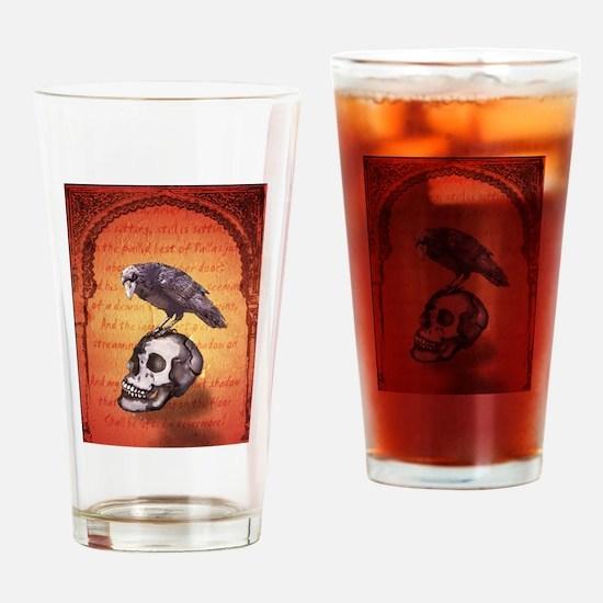 Cool Raven skull Drinking Glass
