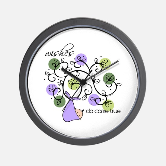 Wishes Do Come True Wall Clock