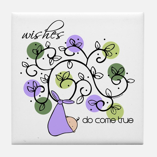 Wishes Do Come True Tile Coaster