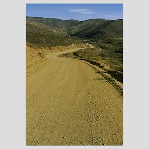 Dirt road on a hillside, Baja California, Mexico