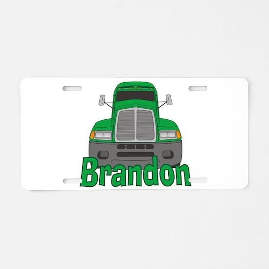 Trucker Brandon Aluminum License Plate