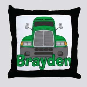 Trucker Brayden Throw Pillow
