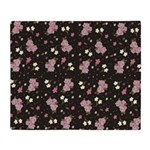 Pink roses on dark background Throw Blanket