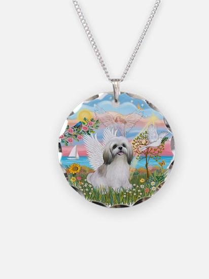 AngelStar-ShihTzu#23 Necklace Circle Charm
