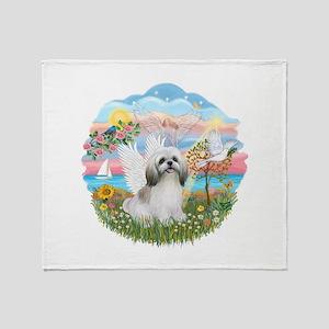 AngelStar-ShihTzu#23 Throw Blanket