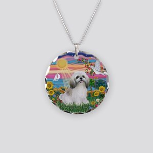 AutumnSun-ShihTzu#23 Necklace Circle Charm