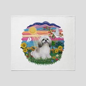 AutumnSun-ShihTzu#23 Throw Blanket