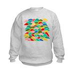 Colorful Fish Scale Pattern Kids Sweatshirt