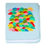 Colorful Fish Scale Pattern baby blanket