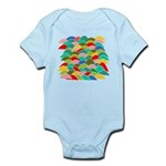 Colorful Fish Scale Pattern Infant Bodysuit