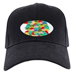 Colorful Fish Scale Pattern Black Cap
