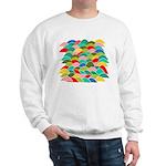 Colorful Fish Scale Pattern Sweatshirt