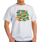 Colorful Fish Scale Pattern Light T-Shirt