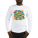 Colorful Fish Scale Pattern Long Sleeve T-Shirt