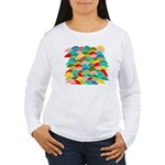 Colorful Fish Scale Pattern Women's Long Sleeve T-