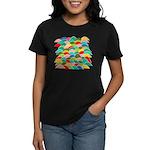 Colorful Fish Scale Pattern Women's Dark T-Shirt