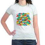 Colorful Fish Scale Pattern Jr. Ringer T-Shirt