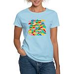 Colorful Fish Scale Pattern Women's Light T-Shirt