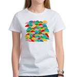 Colorful Fish Scale Pattern Women's T-Shirt