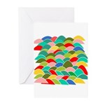 Colorful Fish Scale Pattern Greeting Cards (Pk of
