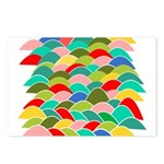 Colorful Fish Scale Pattern Postcards (Package of