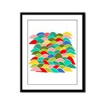 Colorful Fish Scale Pattern Framed Panel Print