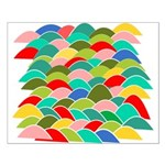 Colorful Fish Scale Pattern Small Poster