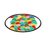 Colorful Fish Scale Pattern Patches