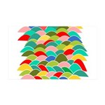 Colorful Fish Scale Pattern 38.5 x 24.5 Wall Peel
