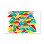 Colorful Fish Scale Pattern 22x14 Wall Peel