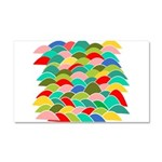 Colorful Fish Scale Pattern Car Magnet 20 x 12