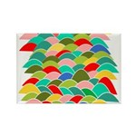 Colorful Fish Scale Pattern Rectangle Magnet (100