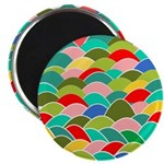 Colorful Fish Scale Pattern Magnet