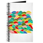 Colorful Fish Scale Pattern Journal
