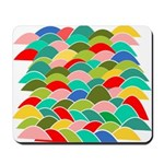 Colorful Fish Scale Pattern Mousepad