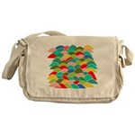 Colorful Fish Scale Pattern Messenger Bag