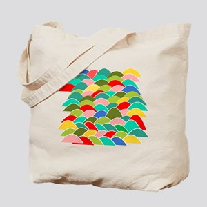 Colorful Fish Scale Pattern Tote Bag