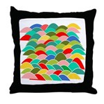 Colorful Fish Scale Pattern Throw Pillow