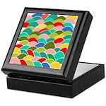 Colorful Fish Scale Pattern Keepsake Box