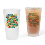 Colorful Fish Scale Pattern Drinking Glass