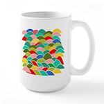 Colorful Fish Scale Pattern Large Mug