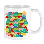 Colorful Fish Scale Pattern Mug